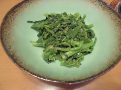 3.18のらぼう菜のワサビ和え