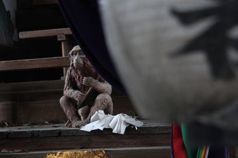 猿田彦神社・猿の木造_H28.09.25撮影