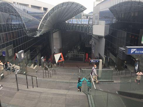 京都駅ビル上から_H29.03.05撮影