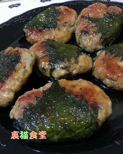4月21日鶏つくね大葉巻焼き