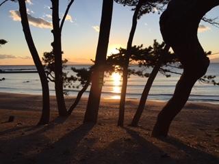 ヒプノセラピー スピリチュアルライフ 葉山 夕陽 光の道