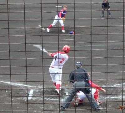 P42005543回表ハウスプラン 2死二、三塁から5番が左中間二塁打を放ち2点追加