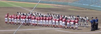 P4220685一塁側九州東海大学 三塁側熊本学園大学