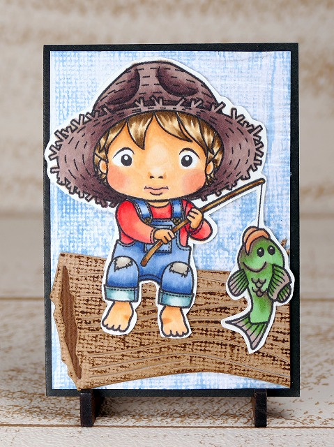 La-La Land Crafts-Gone Fishing Luka-Artisttradingcard