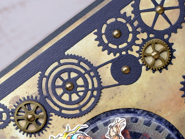 Bloobel Digital Stamps-Steampunk Time-Card Making