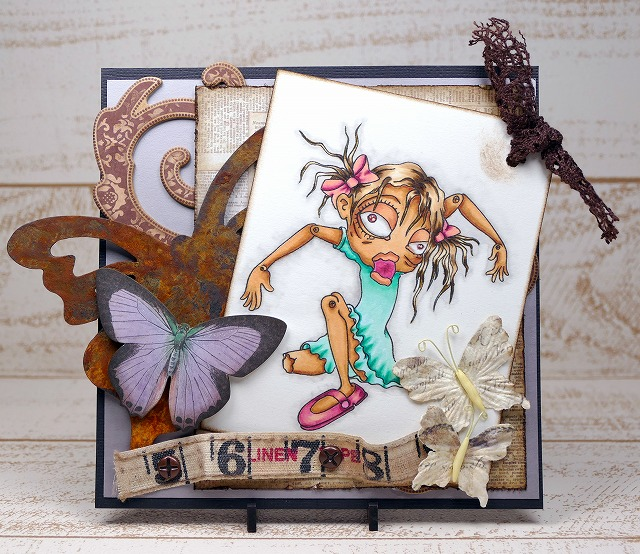 Bloobel Digital Stamps-Broken Doll-Card Making