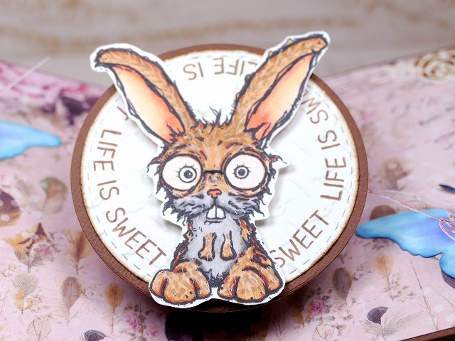 Bloobel Stamps - LITTLE RABBIT Pop-Up Card