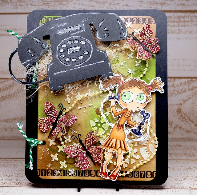 Bloobel Stamps - Call Me - Card Making