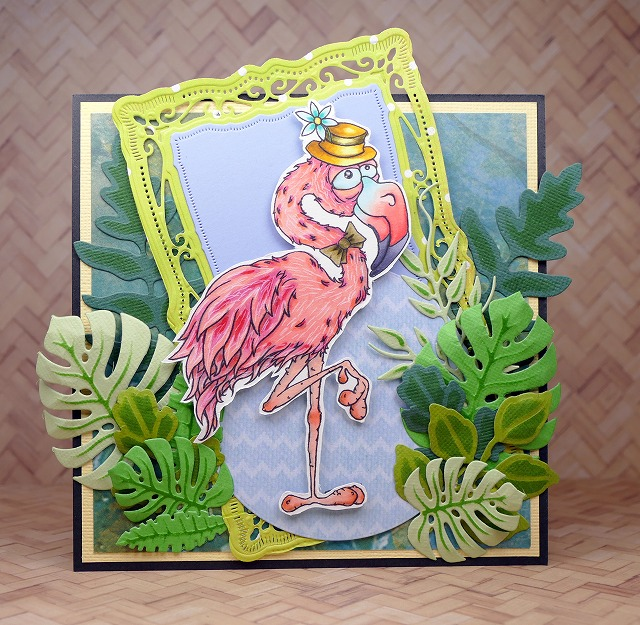 Bloobel Stamps - Mr Flamingo - Card Making