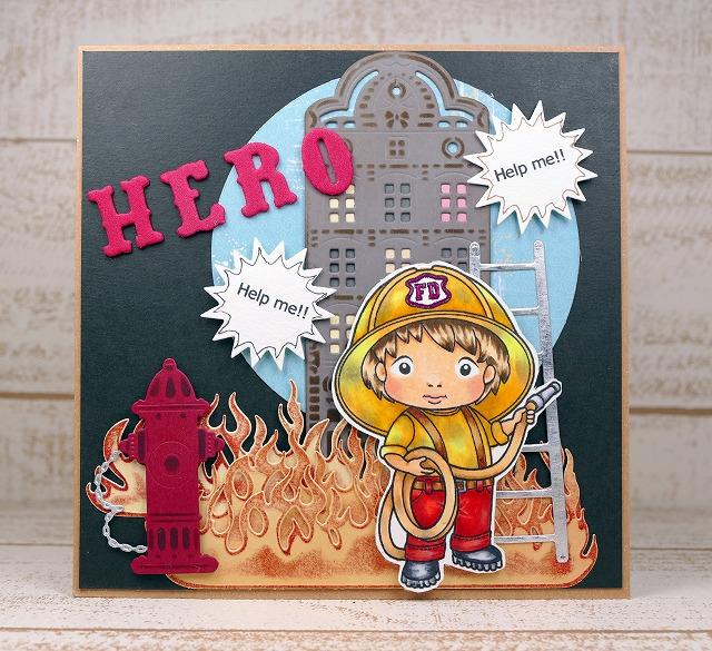 La-La Land Crafts - Fireman Luka - Card Making