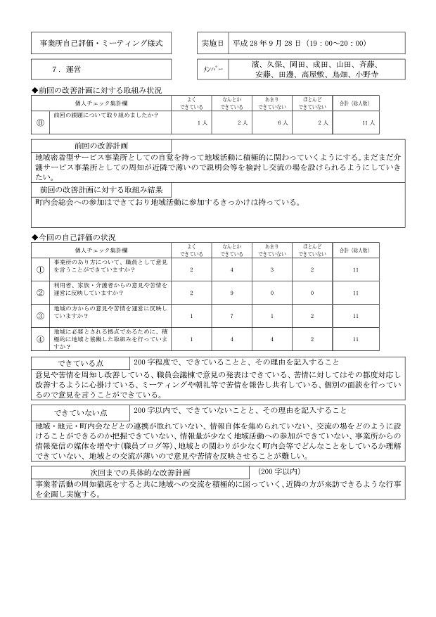 小規模多機能自己評価H28-007