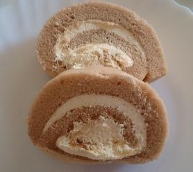 クレームブリュレのロールケーキ02