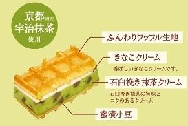 クリームワッフル宇治抹茶03