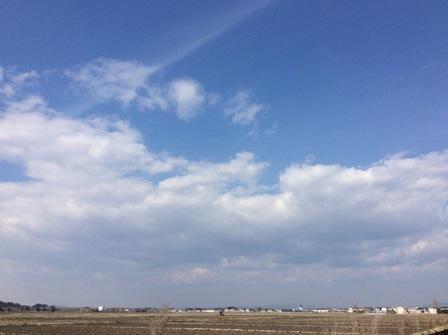何て青い空