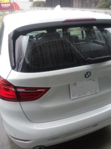 BMW 218 フィルム施工前 リア
