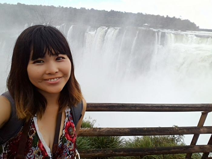 イグアスの滝セルフィー (2)