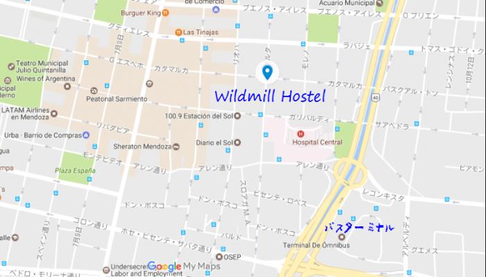 アルゼンチン宿MAP4