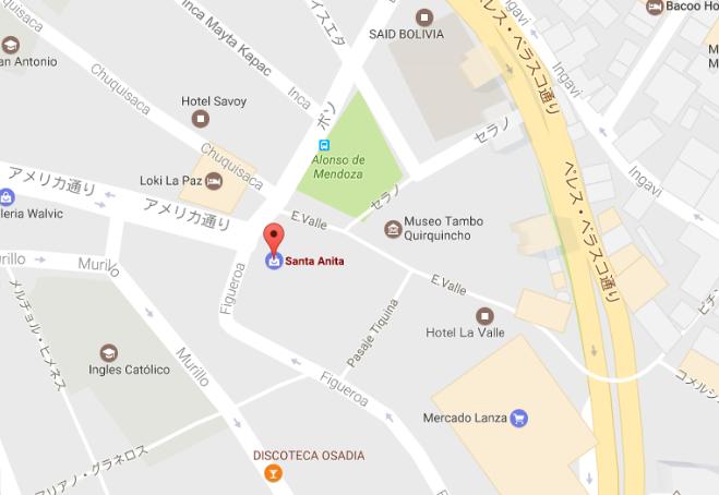 ラパスの屋台MAP
