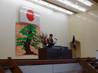 川畑学校長の式辞