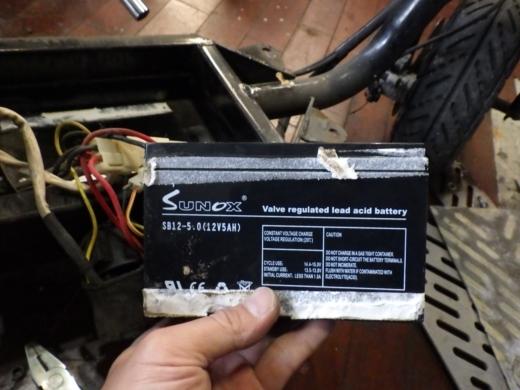 エンジン付きキックボード分解 (9)