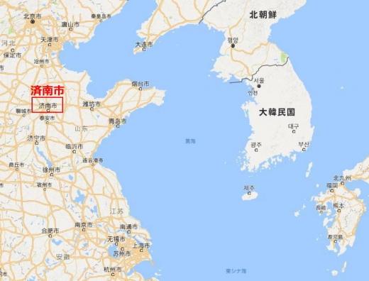 済南事件済南市地図1