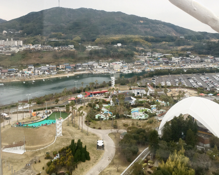 淡路島旅行おのころ観覧車からの園内の眺め