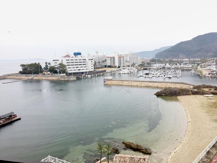淡路島旅行ホテルニューアワジ淡路夢泉景部屋からの眺め