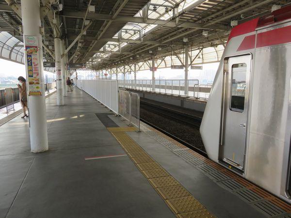 二子玉川駅の溝の口方にある未使用部分。