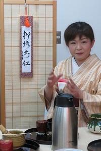 テーブル茶道池田先生