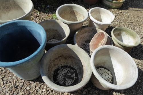 塗り替え用植木鉢