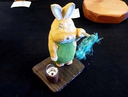 むくむく村 ウサギのお掃除・・・