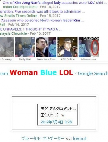 tokKim Jong-nam Woman Blue LOL