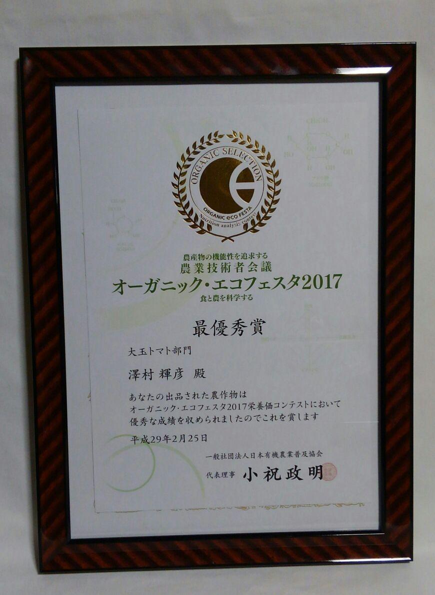 2017賞状