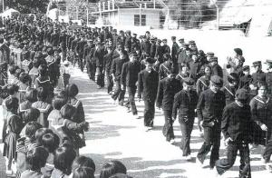 昭和47年 与勝第二中学校分離