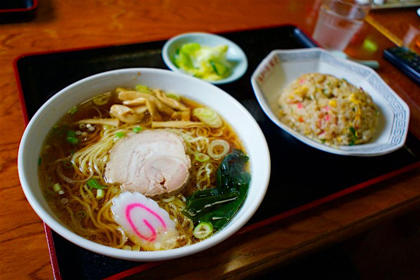 富士食堂@那須烏山市金井 ラーメン+半チャーハン