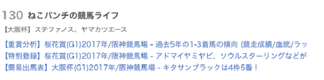 大阪杯2017ランキング