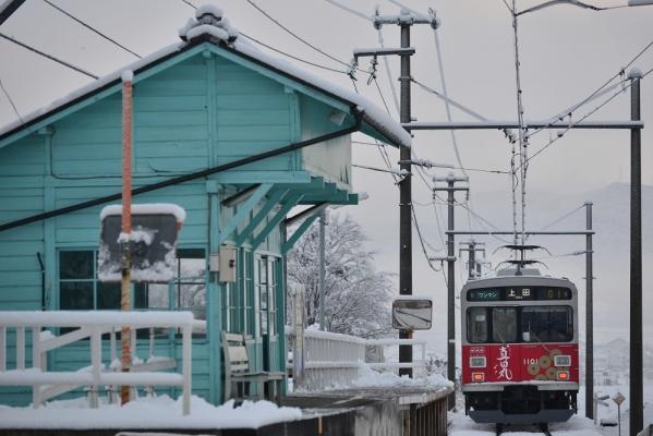 2017年1月9日 上田電鉄別所線 八木沢 1000系1001編成