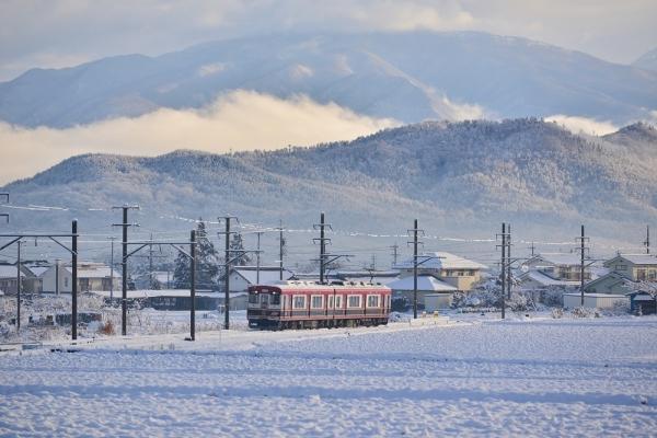 2017年1月9日 上田電鉄別所線 舞田~中野 6000系6001編成