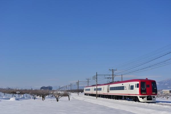 2017年1月29日 長野電鉄長野線 桜沢~延徳 2100系E2編成
