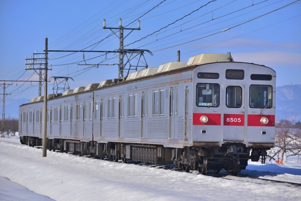 2017年1月29日 長野電鉄長野線 桜沢~延徳 8500系T5編成