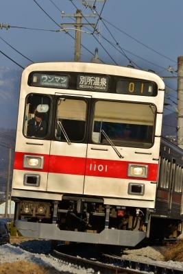 2017年3月6日 上田電鉄別所線 八木沢~別所温泉 1000系1001編成