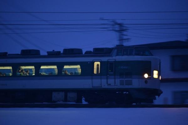2017年3月19日 JR東日本大糸線 飯森~白馬 189系N102編成