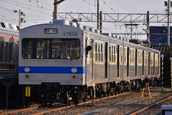 2017年3月30日 福島交通飯坂線 桜水 7000系7113-7315-7214編成