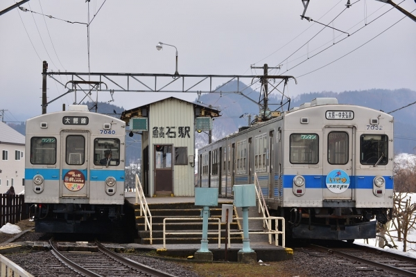 2017年3月30日 弘南鉄道大鰐線 鯖石 7000系7039-7040編成/7031-7032編成