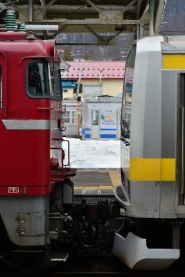 2017年3月30日 JR東日本奥羽本線 大鰐温泉 EF81-140+E231系B22編成