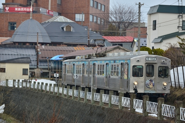 2017年3月31日 弘南鉄道大鰐線 中央弘前 7033-7034編成