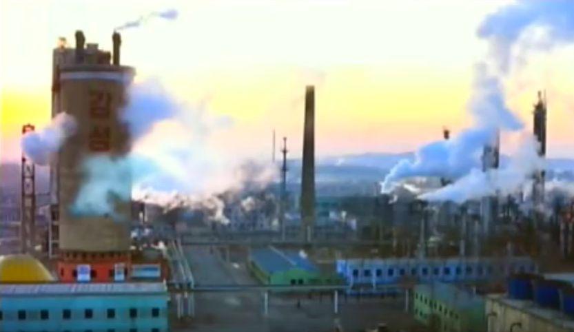 北鮮 化学工場風景