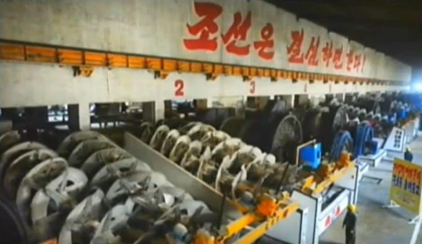 北鮮 車輪工場