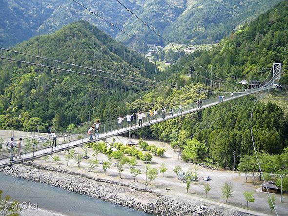 奈良県 十津川村 谷瀬の吊り橋
