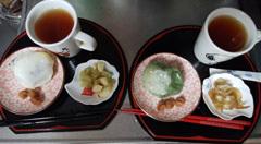 ジンジャー紅茶&餡餅